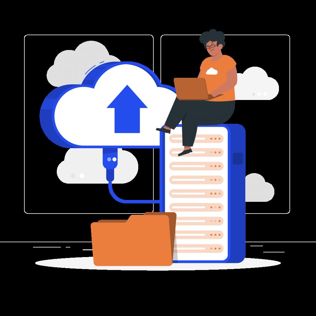Illustration serveur informatique